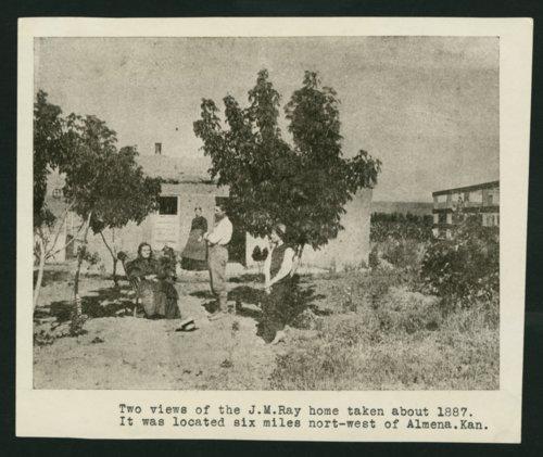 J.M. Ray's sod house, Almenda, Kansas - Page