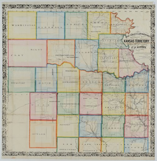 MacLean & Lawrences Sectional Map of Kansas Territory - Page
