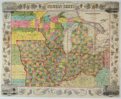 Map of the Western States by J. M. Atwood - Page