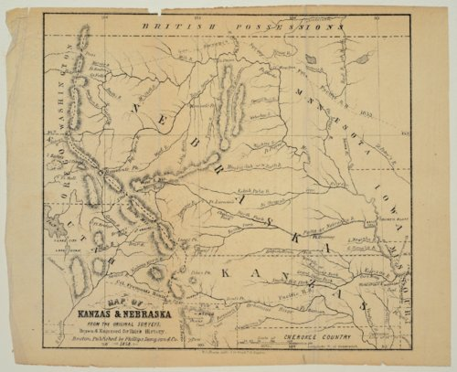 Map of Kanzas and Nebraska from the original surveys - Page