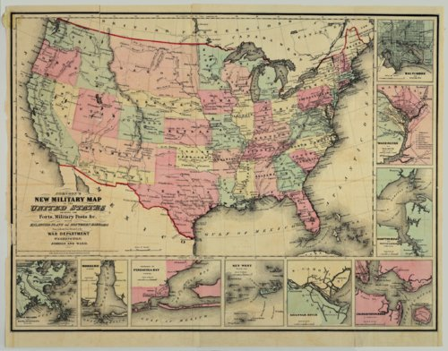 Johnson's New Military Map of the United States - Page