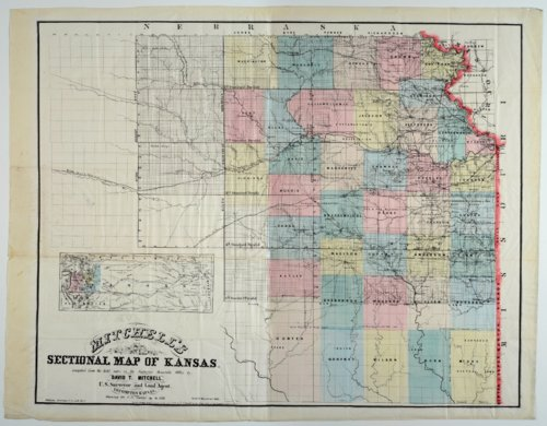 Mitchell's Sectional Map of Kansas - Page