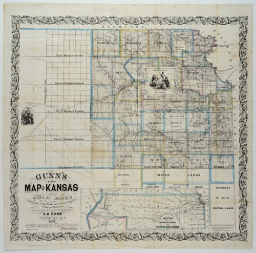 Gunn's New Map of Kansas to the Gold Mines - Page