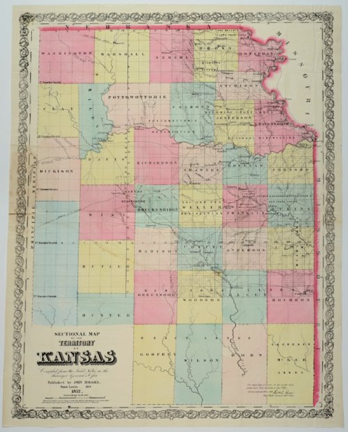 Sectional Map of the Territory of Kansas - Page