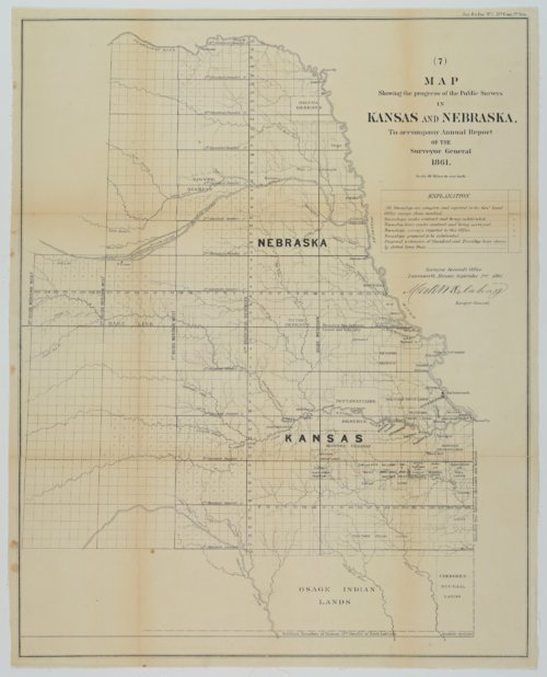 Map Showing the Progress of the Public Surveys in Kansas and Nebraska - Page
