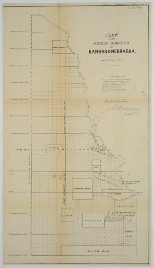 Plan of the Public Surveys in Kansas & Nebraska - Page