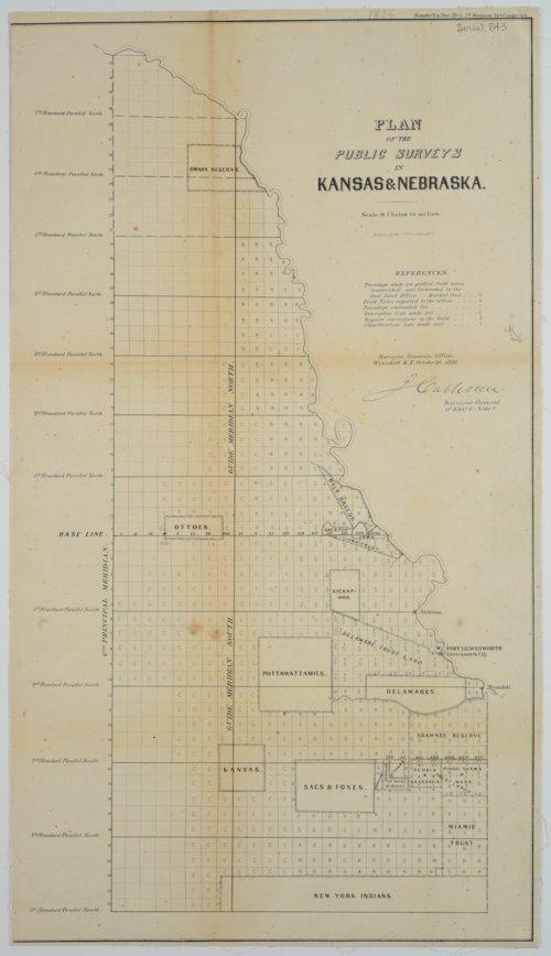 Plan of the Public Surveys in Kansas & Nebraska - Page