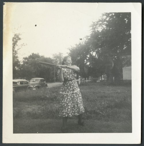 Mary Berndsen playing baseball in Conway Springs, Kansas - Page
