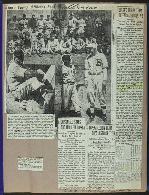 Don Kirkwood baseball scrapbook - Page