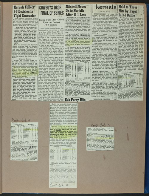 Don Kirkwood baseball scrapbook - Page
