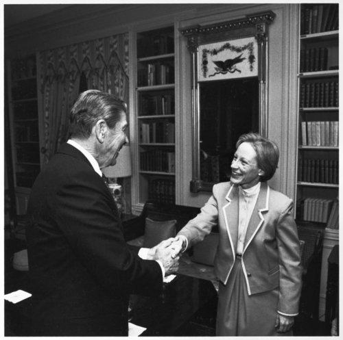 Nancy Landon Kassebaum with President Ronald Reagan - Page