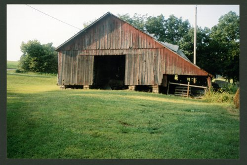 Barn on Arlen Kirkwood's farm in Shawnee County, Kansas - Page