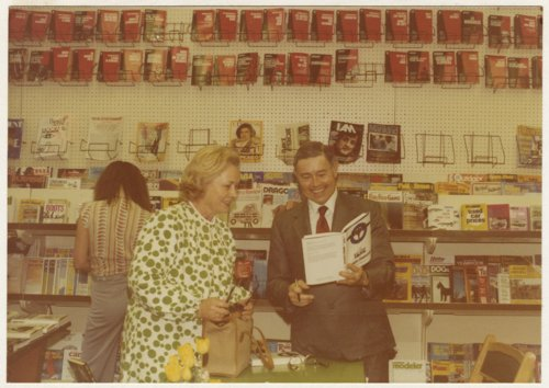 Robert S. Raymond at a book signing party - Page