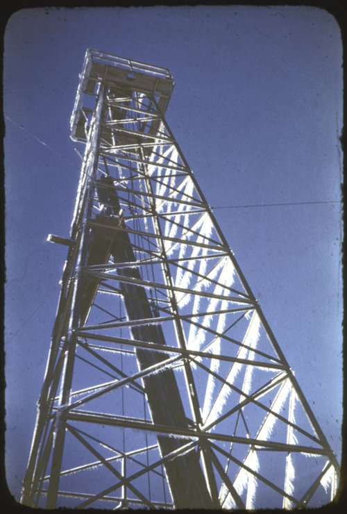 Oil derricks in Russell County, Kansas - Page