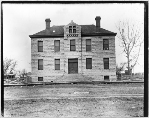Exterior view of old Wabaunsee County courthouse - Page