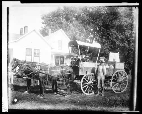 Grocery delivery wagon in Maple Hill, Kansas - Page