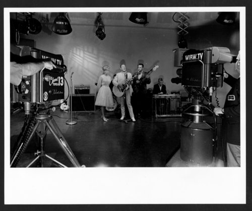 Performers in the WIBW television studio in Topeka, Kansas - Page