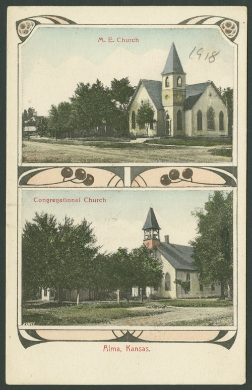 Methodist and Congregational churches in Alma, Kansas - Page