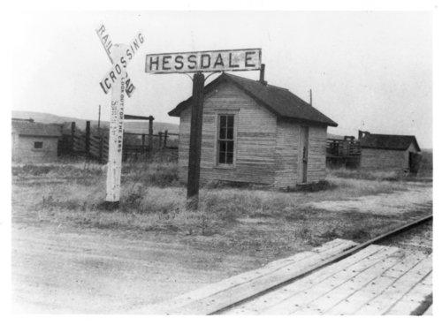 Atchison, Topeka & Santa Fe Railway Company depot, Hessdale, Kansas - Page