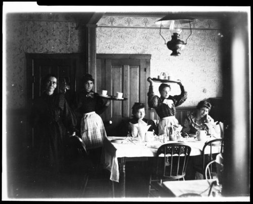 Cafe scene in either Kansas or Oklahoma - Page