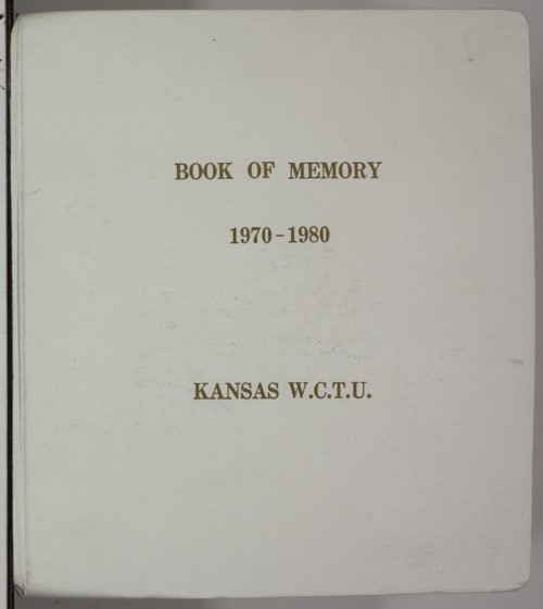 Kansas Woman's Christian Temperance Union memory book - Page