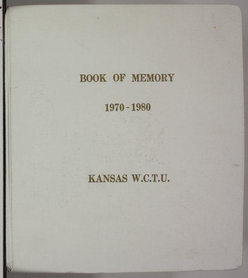 Kansas Woman's Christian Temperance Union memory book - Page