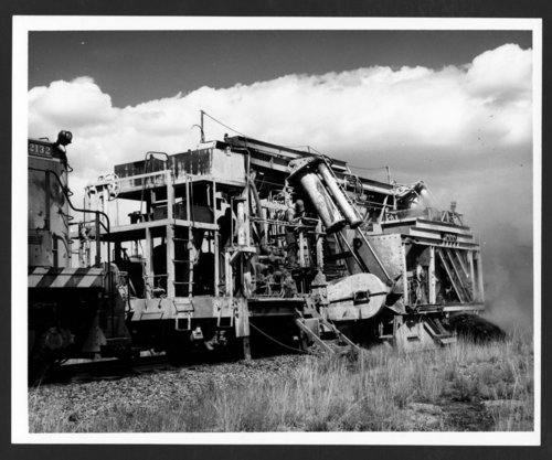 Atchison, Topeka & Santa Fe Railway Company's ballast cleaner - Page