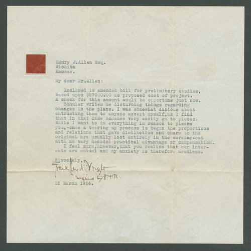 Frank Lloyd Wright correspondence - Page