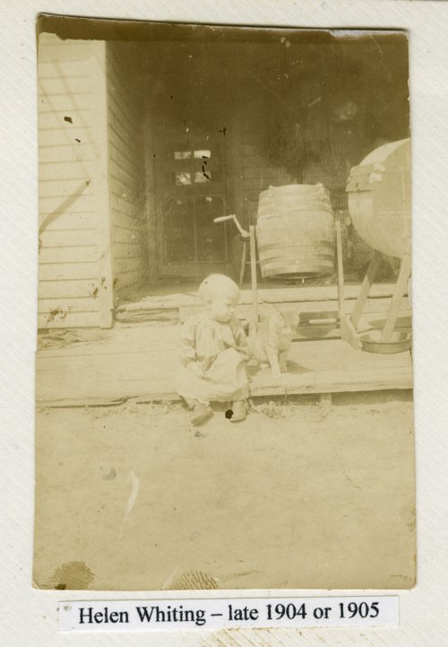 Helen Whiting at the family home in Mount Hope, Kansas - Page