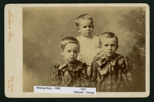Paul, Edmond and George Whiting in Mount Hope, Kansas - Page
