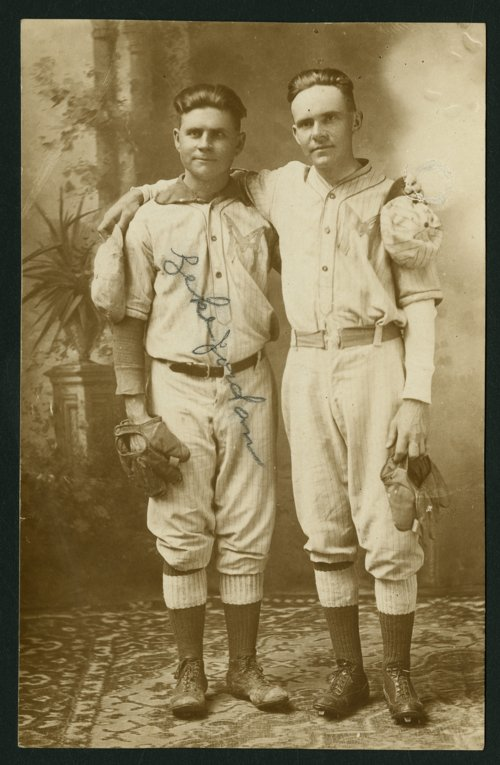 Two baseball players in Mount Hope, Kansas - Page