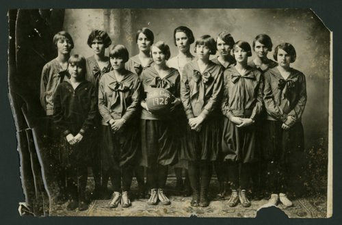 Girls' basketball team at Mount Hope High School in Mount Hope, Kansas - Page