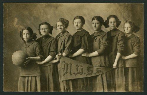 Girls' basketball team at Mount Hope High School in Mount Hope, Kansas - Page