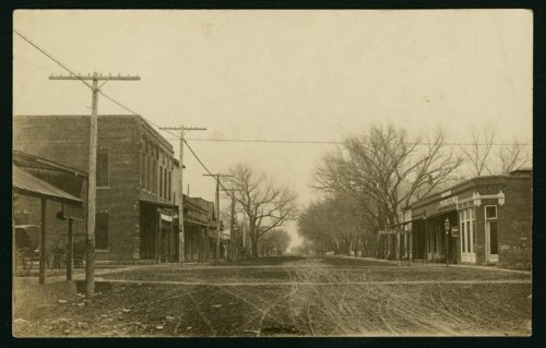 Intersection of Ohio and Main Streets in Mount Hope, Kansas - Page