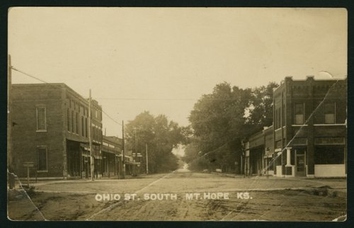 Ohio and Main Streets in Mount Hope, Kansas - Page