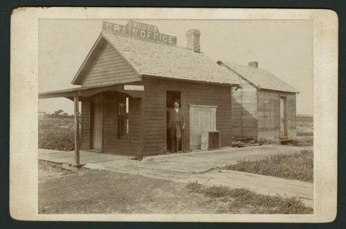 C. Wilhelm's grain office in Mount Hope, Kansas - Page