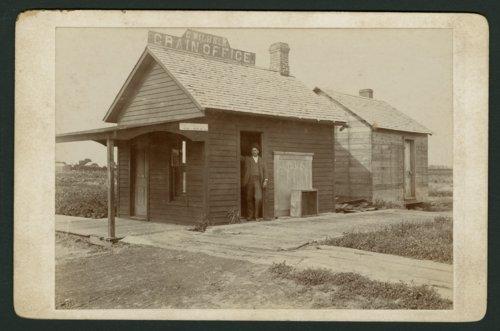C. Wilhelm's grain office in Mount Hope, Kansas - Page