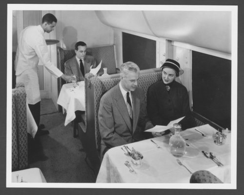 Atchison, Topeka & Santa Fe Railway Company's dining car - Page