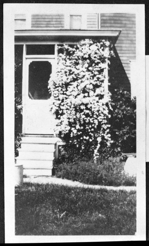 Flower trestle, Rogler home - Page