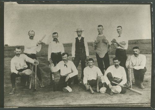 Fred Choteau Campbell and baseball team - Page