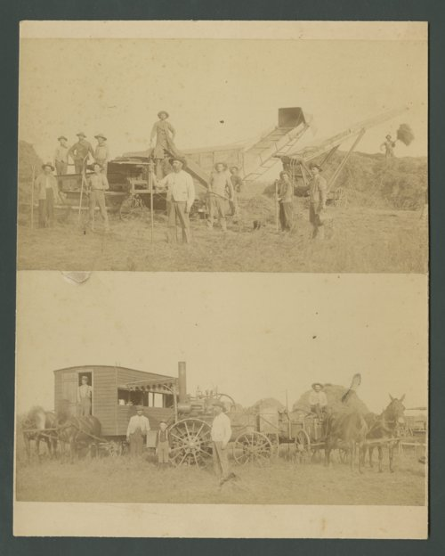 Threshing Crews, Geuda Springs, Kansas or Oxford, Kansas - Page