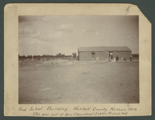 Sod school house, Haskell County, Kansas - Page