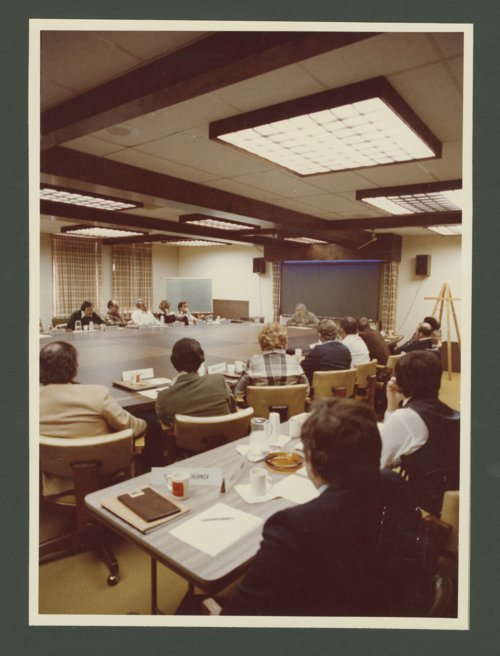 Dr. Roy Menninger conducting a seminar or class - Page