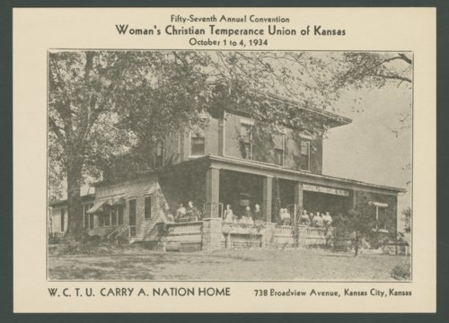 W. C. T. U. Carry A. Nation Home in Kansas City, Kansas - Page