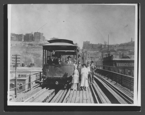 Cable car on 12th St. viaduct in Kansas City, Kansas - Page