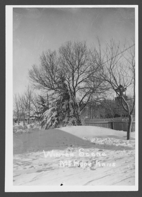 Winter scene in Mount Hope, Kansas - Page