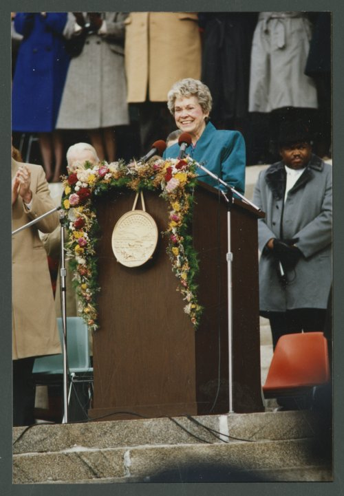 Governor Joan Finney's inauguration at the Kansas capitol in Topeka, Kansas - Page