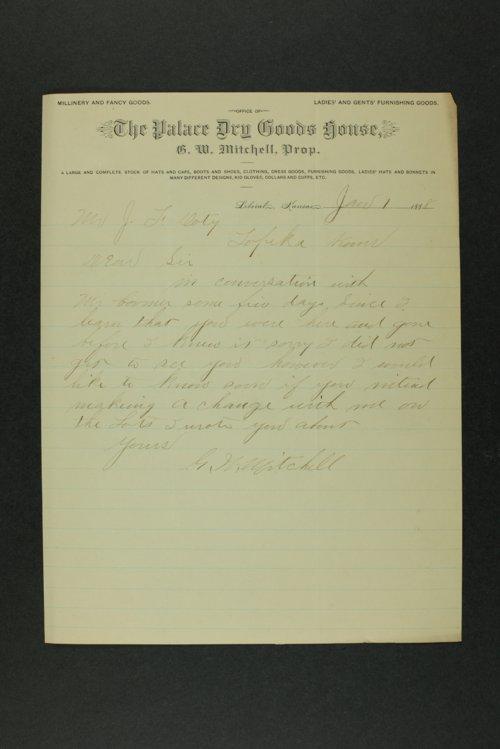J. F. Doty correspondence - Page
