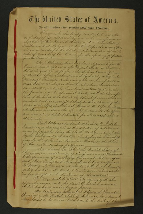 Kansas Town and Land Company U. S. land patents - Page