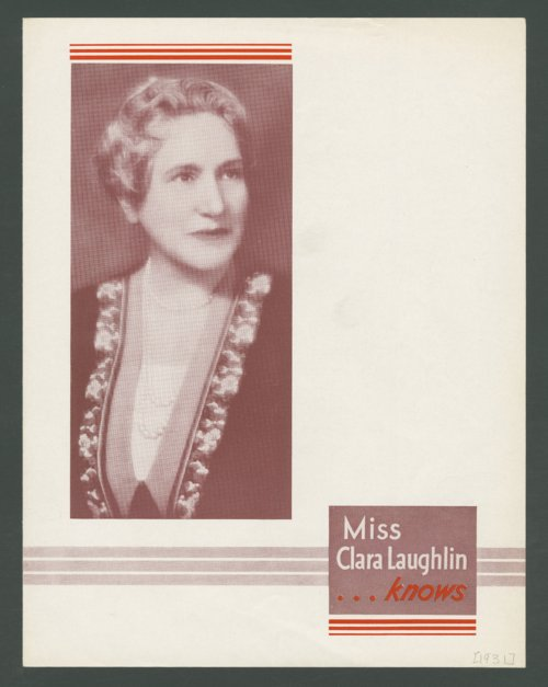 Miss Clara Laughlin . . . knows - Page